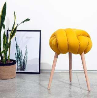 🚚 Knotted Stool Chair Vanity Chair