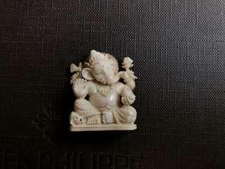 Antique Ganesha carving on mammoth ivory