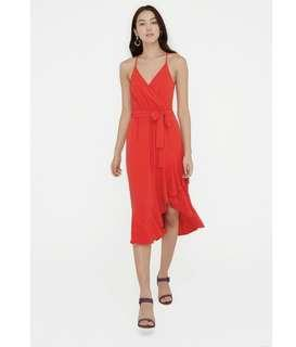 Sheike dress red current season