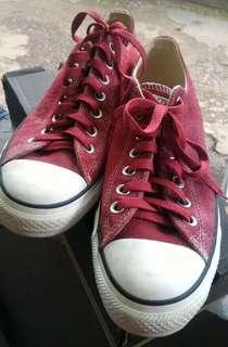 Converse All Star - Red - Suede