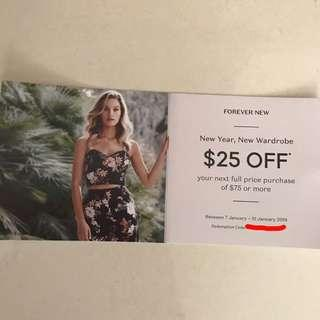 Forever New voucher coupon discount code