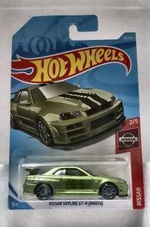 Hotwheels Nissan Skyline GTR(BNR34)