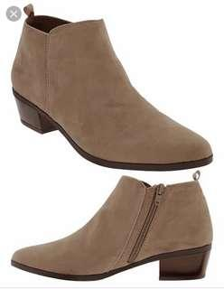 Old Navy Faux Suede Ankle Boots -size 6.5