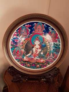Tibet Buddha's painting on Porcelain.