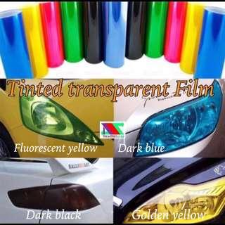 Tint coloured sticker film