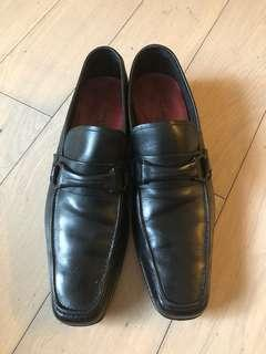 Salvatore Ferragamo Studio Model Black Loafer Shoes 8D 黑色意大利皮鞋
