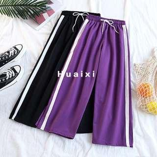 🚚 PO Ulzzang Side Stripped Long pants