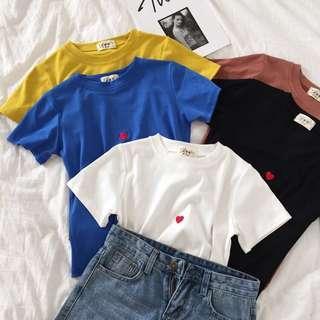 🚚 PO Korean Heart Shapped Tee shirt Top ulzzang