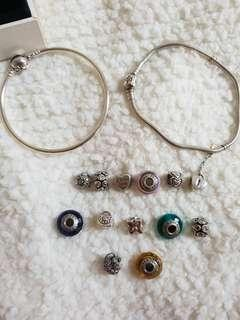 Gelang PANDORA x 2 + 13charms (authentic)