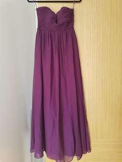 Purple Ethereal Bridesmaid dress