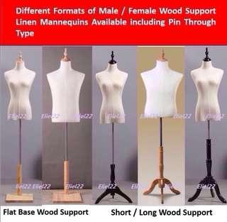 Free Delivery* Ready Stocks - Male Female Kids Linen Torso Mannequin