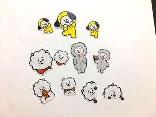 BT21 RJ & CHIMMY Sticker Pack(11pcs)
