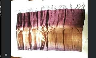 Purple Gold Shawl Wrap