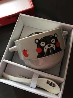 熊本熊5.5吋雙耳湯碗連匙