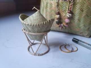 Rattan multi purpose jewelry box
