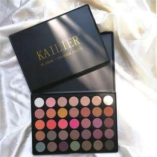 KAILIER 35 Color Eyeshadow Pallete Gorgeous Silky Powder Professional Nature Make up Palette Smoky Warm Matte Shining EyeShadow