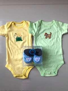 Set baju newborn+sepatu