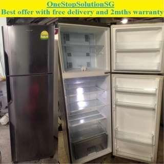 Panasonic (283L) 2doors Fridge / Refrigerator ($240 + free delivery & 2mths warranty
