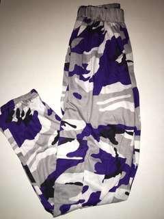 Purple Camo Cargo sweats