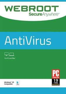 Webroot SecureAnywhere Antivirus 2019 / 1 year /1 PC or Mac Keycode