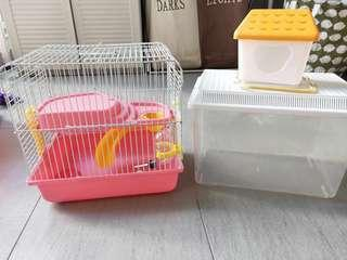 Hamster Cage and Terrapin Container