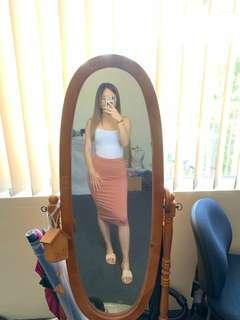 Bardot Midi Skirt - Rust