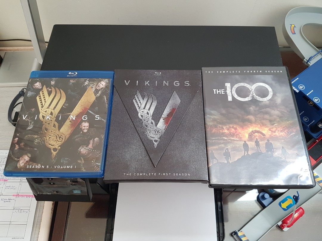 100 and Vikings Bluray/DVD