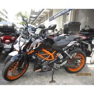 KTM Duke390 2014 $7.9k D/P $500 or $0 With out insurance (Terms and conditions apply. Pls call 67468582 De Xing Motor Pte Ltd Blk 3006 Ubi Road 1 #01-356 S 408700.