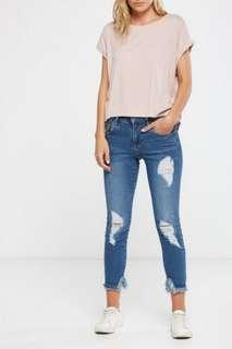 ( New ) Cotton On Skinny Distressed / Ripped jeans - Mid Grazer