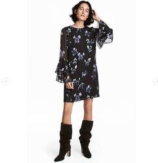 H&M FLOUNCR DRESS