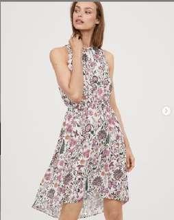 H&M SLEEVELESS DRESS IN CHIFFON