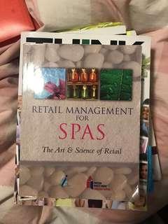Retail management for spas