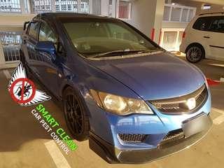 Car fumigation (Civic type R)