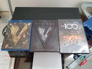 100 and Vikings Bluray/DVD