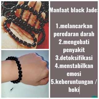Terlaris!!! Gelang batu Black jade / Giok hitam