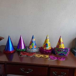 Colourful Party hat and masks