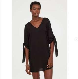 H&M DRESS TIE SLEEVESS