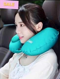 BN Inflatable Turquoise Travel Neck Pillow