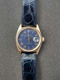 Rolex Datejust 16018 rare blue buckley dial
