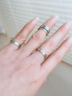 925 ring x2