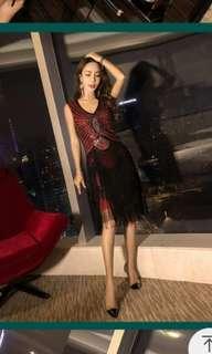 Evening tassels dress