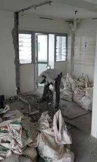 HDB license contractor Hacking Tiling Plumbing Electrical Painting Carpentry Renovation.