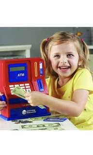 🚚 Learning Resources Teaching ATM Bank, Blue & Red, 32 Pieces