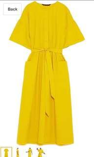 Zara Women Midi Dress With Belt