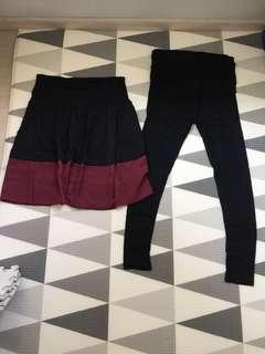 🚚 Pre-loved maternity skirt and legging