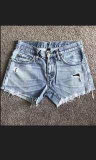 Nobody denim shorts size 24