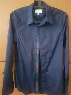 Calvin Klein Navy Blue Shirt