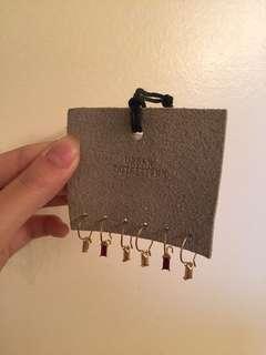 Urban outfitters mini gold hoop earrings