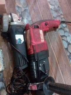 3in 1 rotary hammer/grender 1set