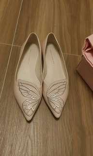 Sophia Webster bibi flats pink nude踝粉色鞋38.5